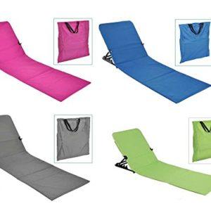 Checklife 92147 Strandliege klappbar 145 x 47 + Tasche Saunaliege Strandmatte Gartenliege auswählen (grün)
