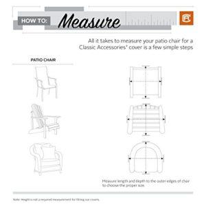 Classic Accessories Veranda Abdeckung für Gartenstühle