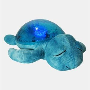 Cloud B 8723540082368 Nachtlicht Schildkröte, mit Licht und Sound, blau