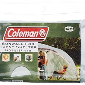 Seitenwand für Coleman Event Shelter Pro XL 4,5 x 4,5m (15 X 15ft), 1 Pavillon Seitenteil, Seitenplane, dient auch als Sonnenschutz, wasserabweisend, grün