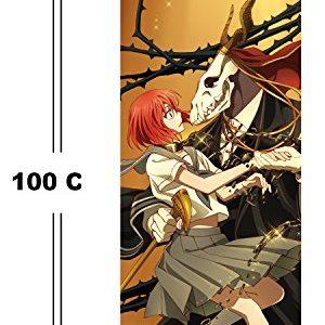 CoolChange Braut des Magiers Rollbild / Kakemono aus Stoff, 100x40cm, Motiv: Chise & Elias