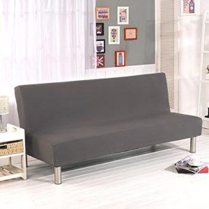 Cornasee Sofabezug 3 sitzer ohne armlehne – Clic Clac Sofahusse Stretch Bettcouch Schonbezug Einfarbig