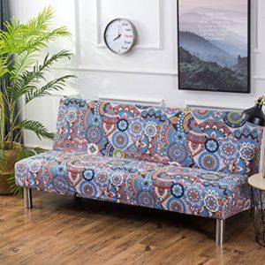 Cornasee Sofabezug 3 sitzer ohne armlehne – elastisch Schonbezug Sofahusse für Schlafsofa/Clic Clac