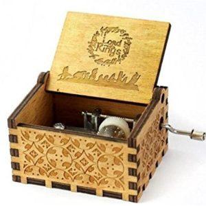Cuzit der Herr der Ringe Film, Thema Musik Box Holz Gravur Handkurbel Spieluhr