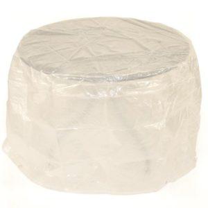 DEGAMO Abdeckhaube für Tische und Garnituren bis 125cm, PE transparent