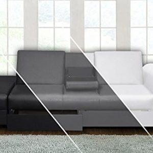 DRULINE Sofa Cairo Schlafsofa Klappsofa Kunstleder Couch Schlafcouch Klappcouch Garnitur