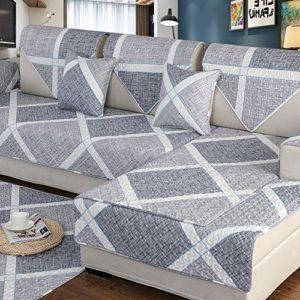 DSAQAO Einfach Sofa Protector, Universal Vier Jahreszeiten Anti-rutsch Sofa Handtuch Volle Deckung, Verdicken Sie Couch-schutzhülle