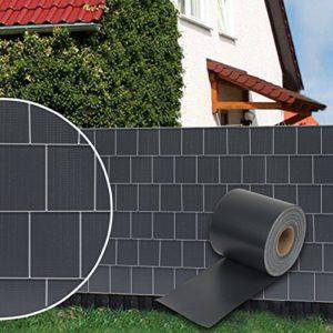 Dazone® PVC Sichtschutzstreifen Zaunfolie Blickdicht inkl. 30 x Befestigungsclips 19 cm x 70 m