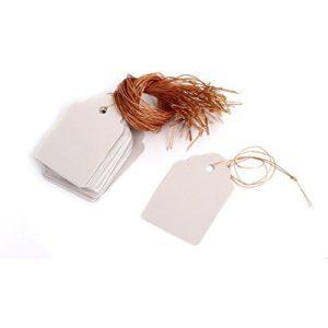 DealMux Kunststoff Pflanze Samen Hanging-Etikett Marker 5cm x 3.4cm 50Pcs Weiß