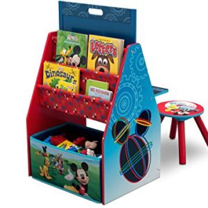 Disney Mickey Mouse Spielstation mit Hocker aus Holz