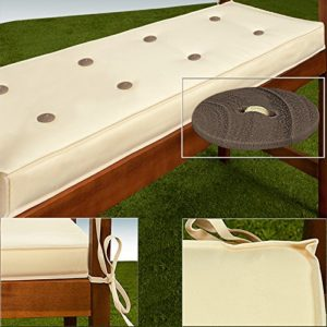 Detex® Bankauflage 145cm Sitzkissen Sitzauflage Sitzpolster Gartenbank Auflage