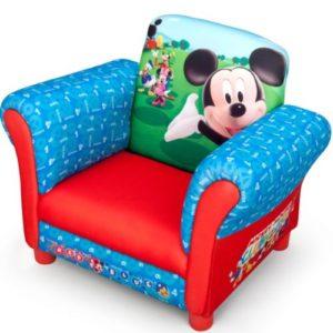 Delta Children's Products Disney Mickey Mouse Armlehne Stuhl mit Holz Innenteil Einzelsofa Kindersofa Sitzplatz Sessel