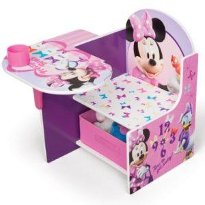 Delta Children's Products Disney Minnie Mouse Sitzbank Bank Tisch Stuhl Aufbewahrung 3in1 Sitzpult Möbel