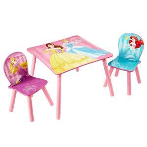 Disney Prinzessin – Set aus Tisch und 2 Stühlen für Kinder
