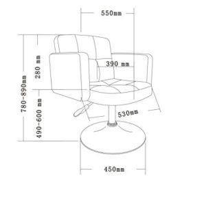 Duhome Elegant Lifestyle Clubsessel Sessel Kunstleder Esszimmerstuhl Lounge Sessel höhenverstellbar drehbar Farbauswahl – TYP 524A