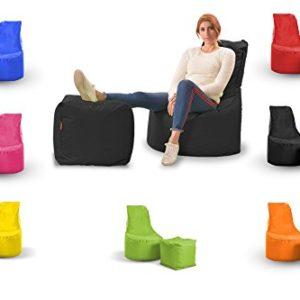 EasySitz Minderim Sitzsack Set Mia Swing & Cube Hocker