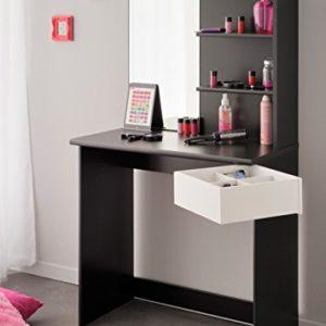 Eck-Schminktisch mit Make up Spiegel Mädchen Kinderzimmer Frisierkommode Frisiertisch Schminkspiegel Kosmetiktisch