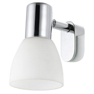 2 X Eglo Spiegelleuchte Modell Sticker/in Stahl chromfarben und opalem Glas/HV 1 x E14 Max. 40 W/exklusiv Leuchtmittel…