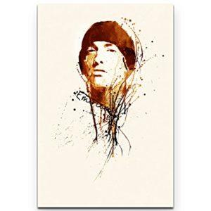 Eminem 90x60cm als Leinwandbild und Poster mit verschiedenen Rahmungen oder als Tasse