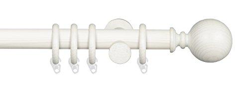 Endstück für Gardinenstange 28 mm Ø Terra   Modell Kugel   kalkweiß weiß   1 …