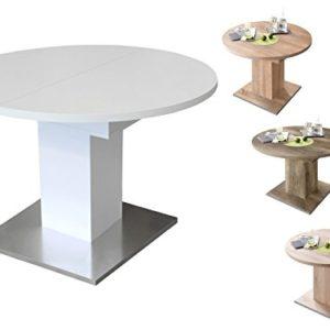 möbelando Esszimmertisch Tisch Esstisch Küchentisch Speisentisch Holztisch Judd II Eiche sägerau