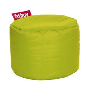 Fatboy® Point limegrün Nylon-Hocker | Runder Sitzhocker | Trendiger Poef/Fußbank/Beistelltisch | 35 x ø 50 cm