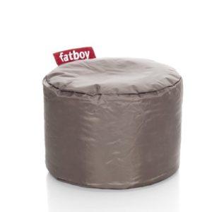 Fatboy® Point lichtgrau Nylon-Hocker | Runder Sitzhocker | Trendiger Poef/Fußbank/Beistelltisch | 35 x ø 50 cm