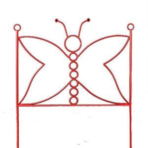 MuebleTienda fdforja Kopfteil, Design Schmetterling, für Matratze, 90cm, Metall, 128x 95x 3cm Einzeln blau