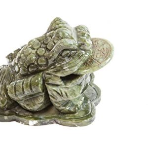 Yuchengstone Feng shui Geldkröte Geldfrosch Glücksbringer aus Jade, Bagua Orangencalcit oder Marmor