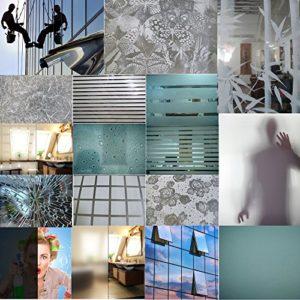 TipTopCarbon Fenster Sichtschutzfolie Milchglasfolie Dekofolie 152cm Breite Fensterfolie Spion Design Folie Spiegelfolie…