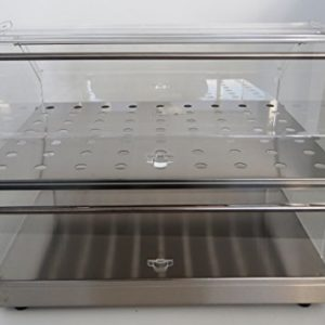 Fimel–Vitrine Neutral Bar mit Base und Ablage Edelstahl 2Türen aus Plexiglas Größe L.500x p.350X H.360mm