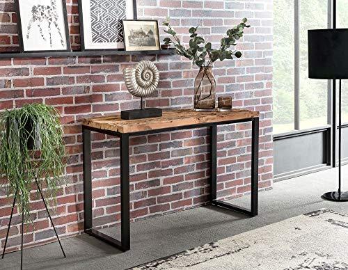 finebuy konsolentisch ballari 115 x 46 x 76 cm massiv holz natur konsole rustikal wohnzimmer. Black Bedroom Furniture Sets. Home Design Ideas