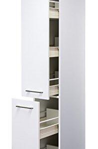 Flex-Well Smart Möbel Apotheker-Hochschrank 30 x 200 cm Weiß – Nawa