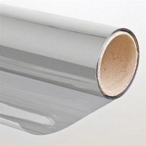 Folien-Gigant Sonnenschutzfolie, Spiegeleffekt silberfarben 152cm