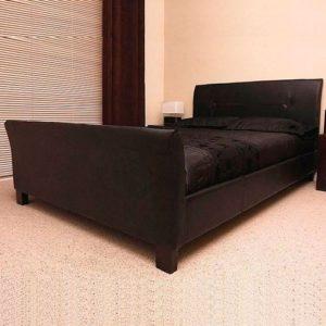 Frankfurt & Co–Italienisch Moderner Designer Schlitten Bett Nur, erhältlich in 3Größen und 2Farben.