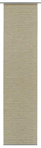Gardinia Flächenvorhang (1 Stück), Schiebegardine, Blickdicht, Flächenvorhang Natur-Optik