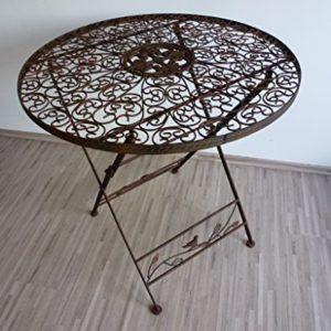 Ziegler Gartentisch Klapptisch Metalltisch Tisch Metall rund 70 cm WK070828