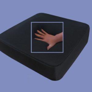Gel / Gelschaum Sitzkissen / Anti Dekubitus Sitzpolster 52x45x10 cm SCHWARZ für Rollstuhl / Stuhl / Auto / LKW / Bürostuhl / Chefsessel Kissen Stützkissen Rücken + Gesäß