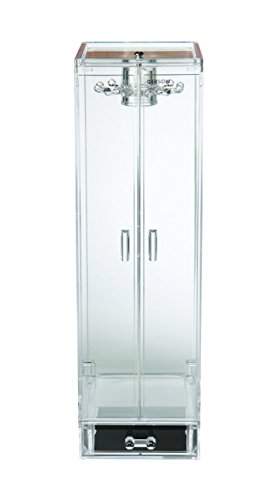 Gerson F1385Schmuckschrank mit 2Türen/Schublade Acryl Transparent 12x 13,5x 19cm