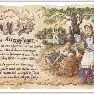Geschenk Altenpfleger Altenpflege Gedicht Zeichnung Präsent Jubiläum