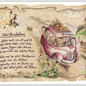 Geschenk Busfahrer Busreisen Reiseunternehmen Präsent Jubiläum Geschenke Gedicht