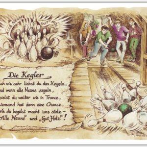 Geschenk Kegler Kegeln Kegelverein Präsent Jubiläum Gedicht