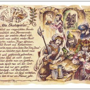 Geschenk Skatspieler Skat Kartenspiel Gedicht Präsent Jubiläum