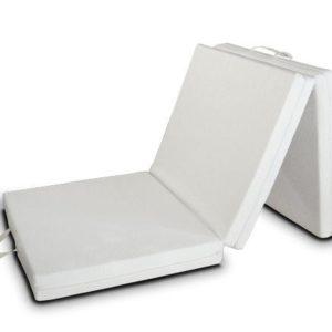 Evergreenweb Futon-Matratze, faltbar, für Einzelbett und Doppelbett, platzsparend, mit Steppbett und doppeltem Bettwäsche-Set, Baumwolle