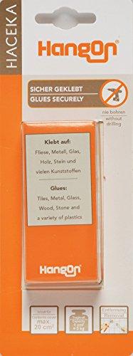 Haceka 1139104 Klebebefestigung HangOn, Messing, Silber, 15 x 15 x 9 cm