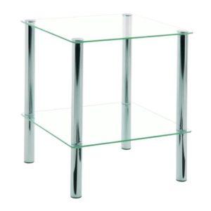 HAKU Möbel Kleinmöbelserie verchromt, Ablagen aus Sicherheitsglas in verschiedenen Ausführungen