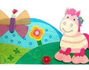 Hess-Spielzeug 30336 – Garderobe Pferdchen aus Holz, ca. 35 cm
