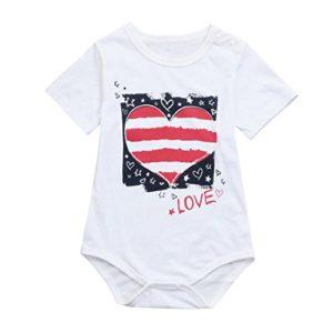 Hirolan Neugeborenes Baby Strampler Mädchen Nachtwäsche Jungen Star Romper Gestreift Babykleidung Liebe Spielanzug Kleider Kleinkind Overalls Outfits Kleidung