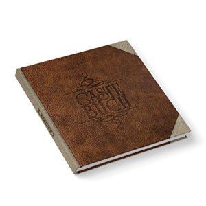 Hochzeitsgästebuch Gästebuch edel LEDER-NOSTALGIE-LOOK braun beige quadratisch 21 x 21 cm für Hochzeit Jubiläum für öffentliche Gebäude Geburtstag Feriengäste Geburtstag