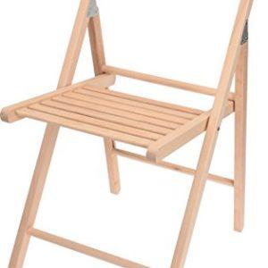 Spetebo Holz Klappstuhl mit Lehne – Bierzelt Stuhl Natur – Beistellstuhl